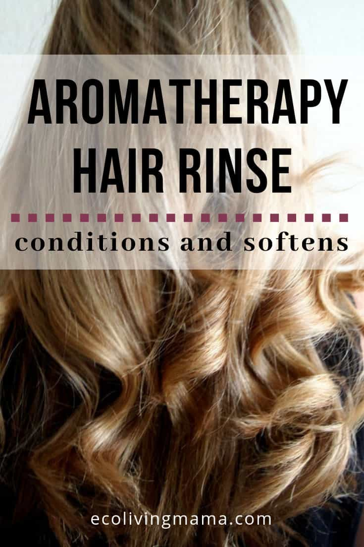 This DIY Aromatherapy hair rinse is quick and effective! It's main ingredient is probably already in your pantry. #diy #naturalhair #haircare