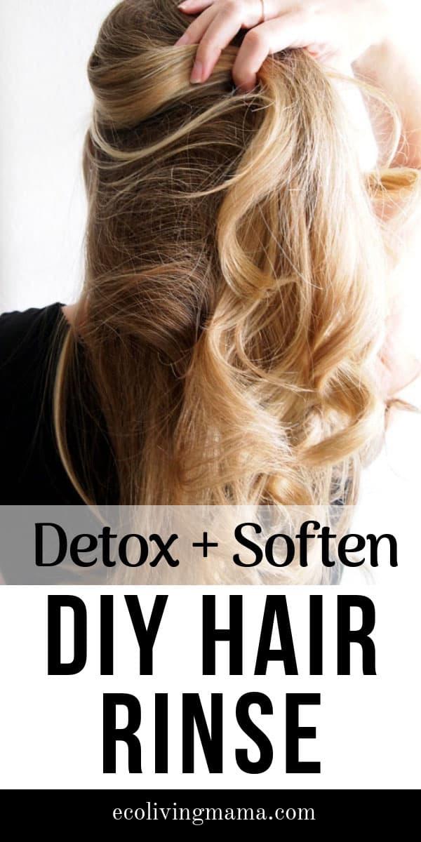 DIY aromatherapy hair rinse