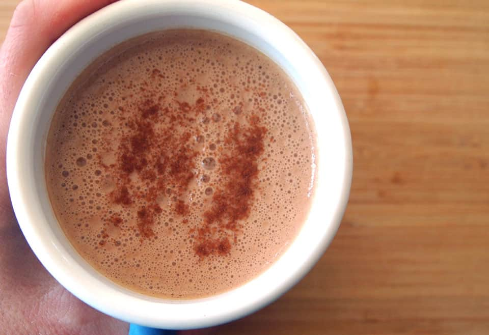 Healthy-dairy-free-hot-chocolate maple sweetened