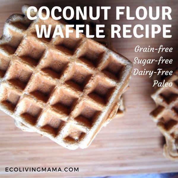 coconut flour waffles, grain-free waffles