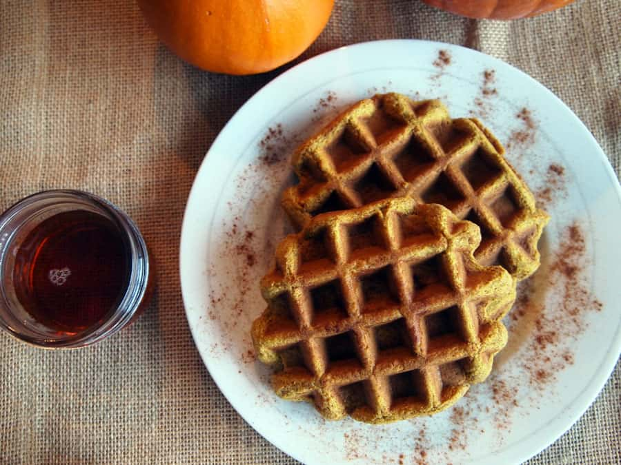 Paleo Pumpkin Spice waffle recipe