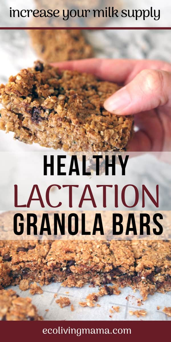 These Chocolate chip lactation granola bars will be your new favorite snack! They are full of healthy ingredients and are made with milk boosting, nutrient dense, real food. Save this recipe - you'll want to make these again and again.