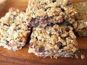 Healthy Chocolate Chip Lactation Granola Bar Recipe