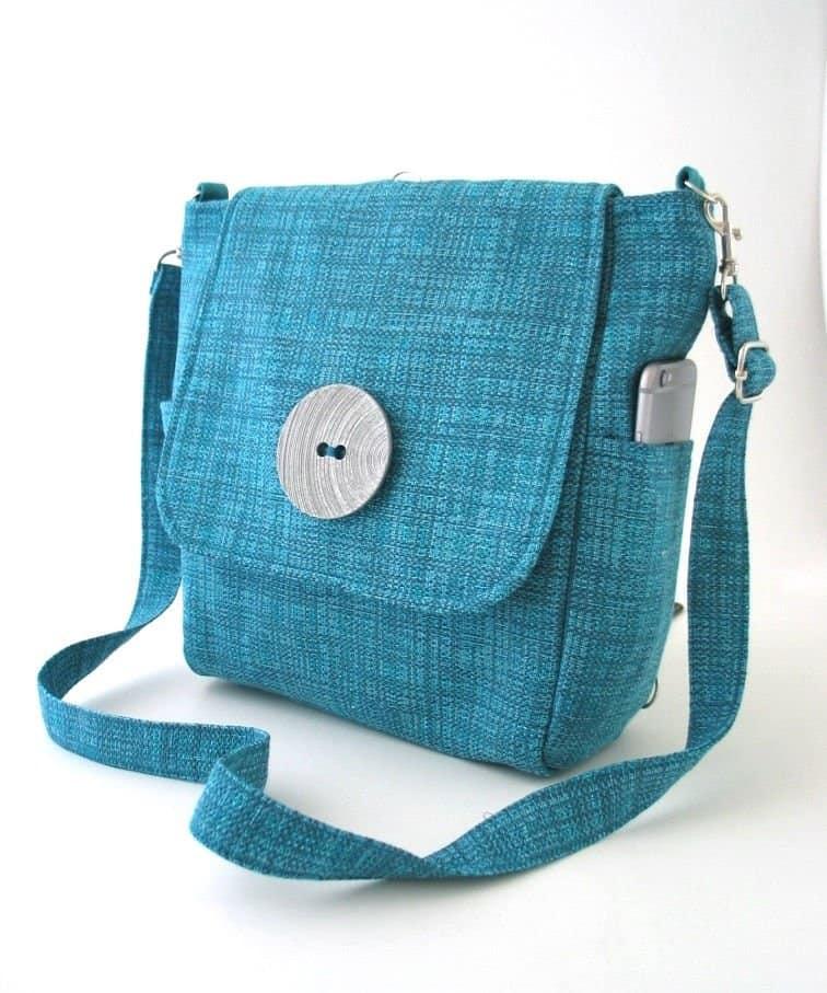 convertible blue purse bag by Daphne Designs