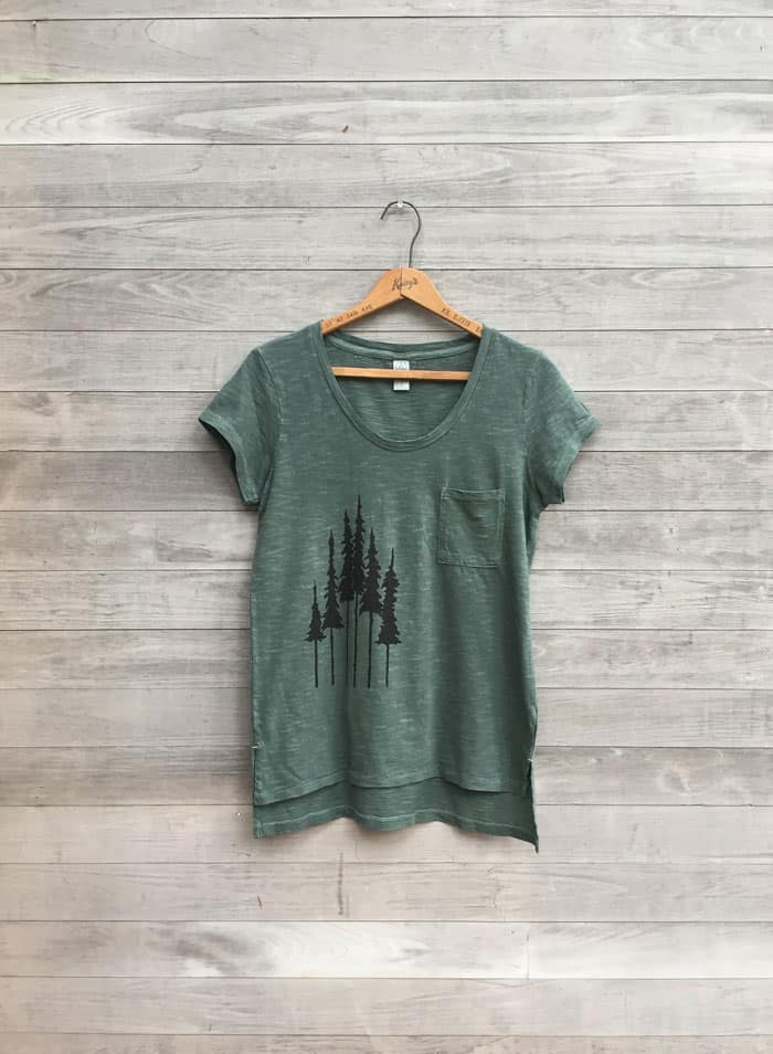 green tree tshirt NicolaandtheNewfoundlander