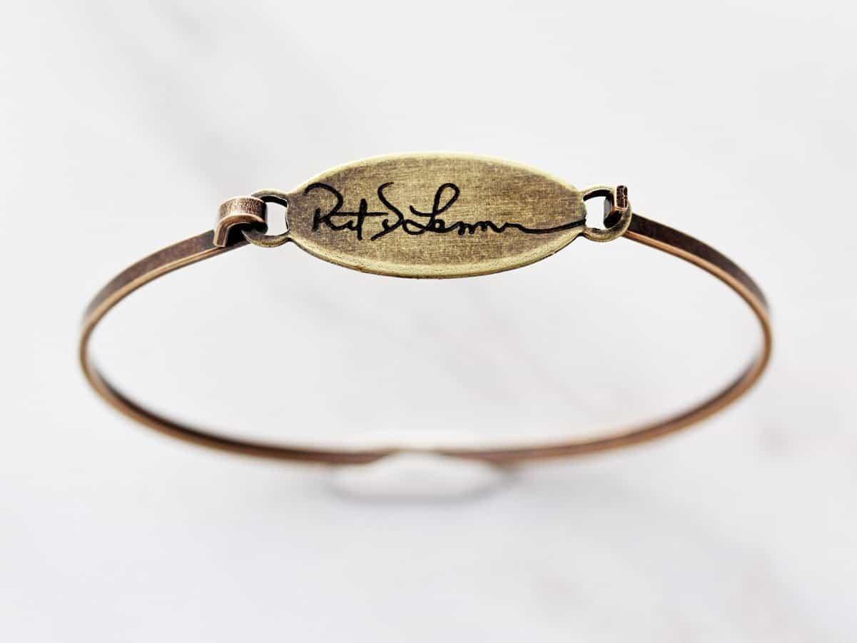 handwriting bracelet Tom Designs