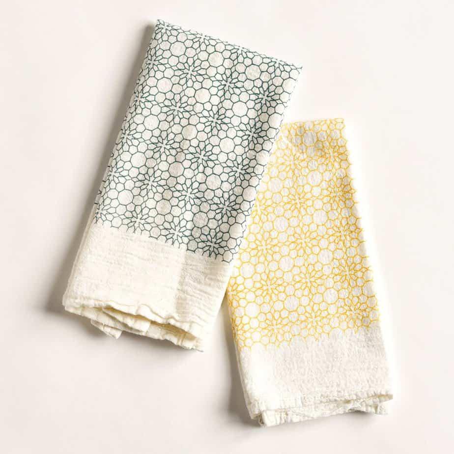 honeycomb cloth napkins set