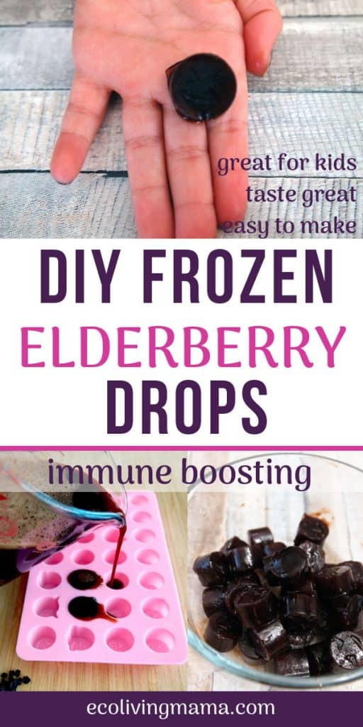 DIY frozen elderberry drops for kids
