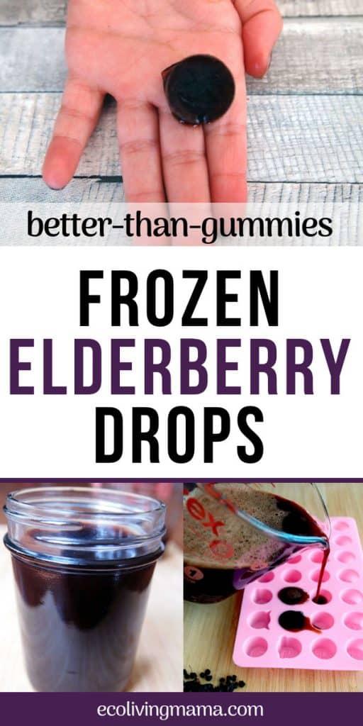 homemade better than gummies frozen elderberry drops