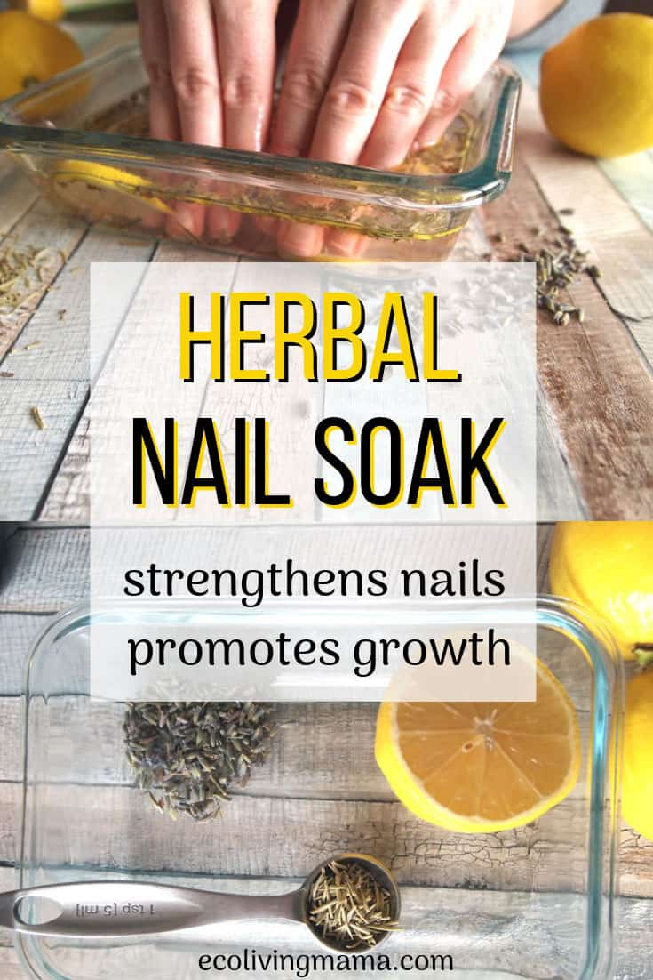 DIY herbal nail soak for longer stronger nails