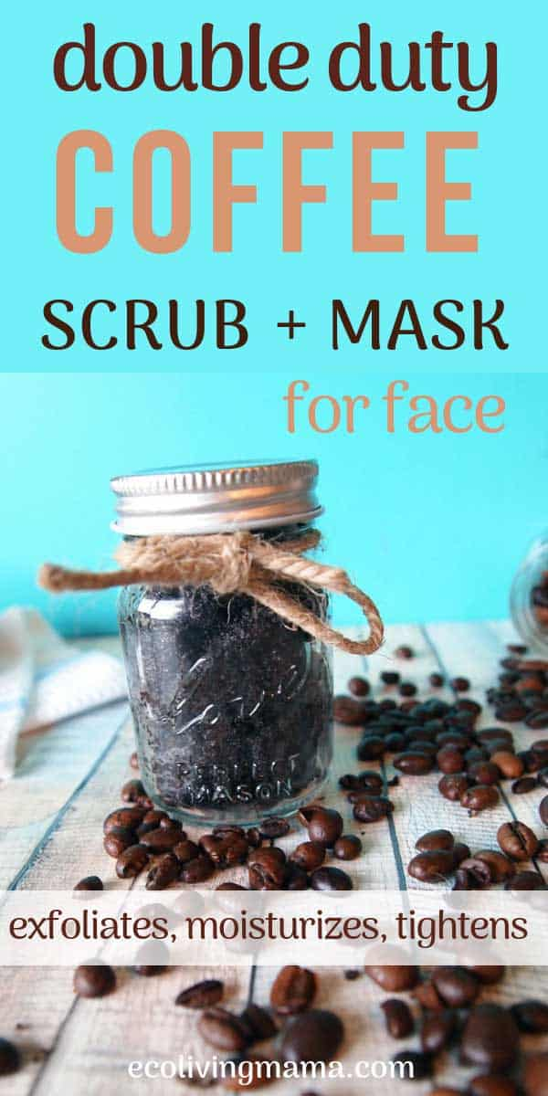 coffee face scrub and mask in a jar