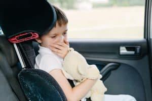car sick kid