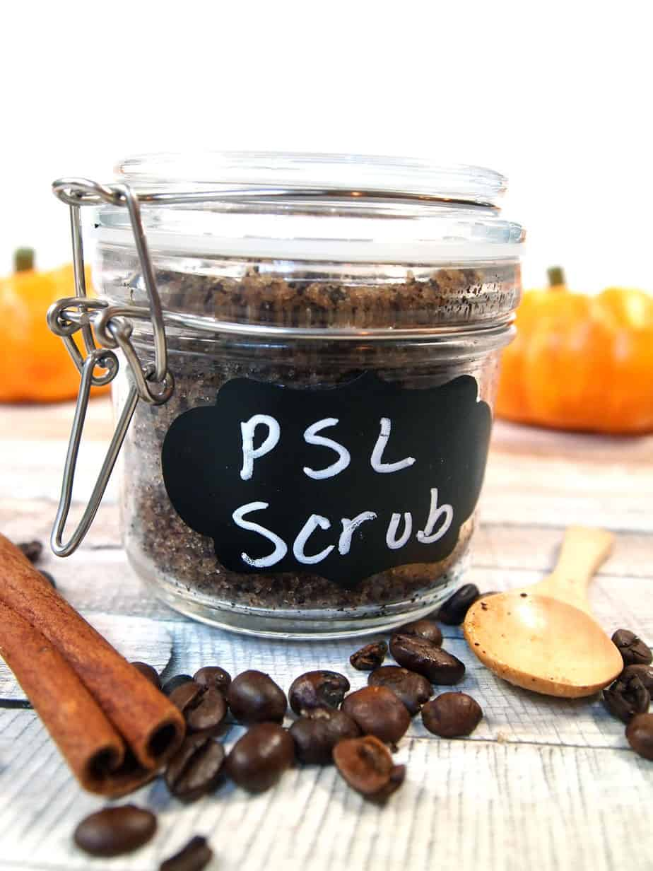 jar of pumpkin spice sugar scrub