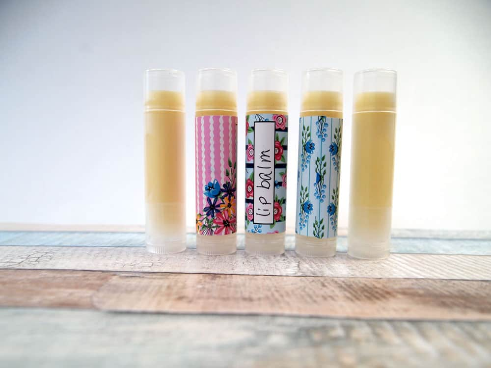 cute handmade lip balm in tubes
