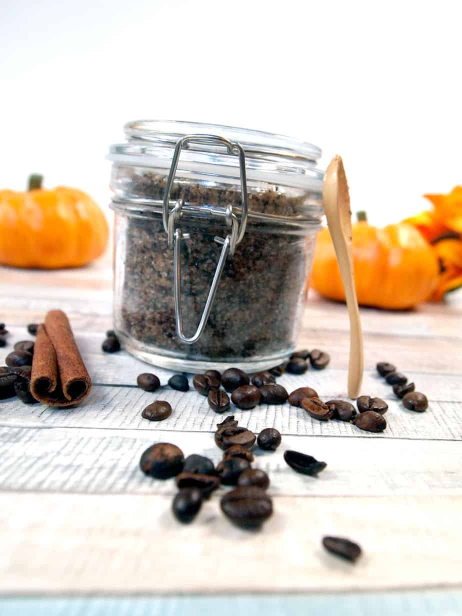 pumpkin spice coffee scrub gift with spoon