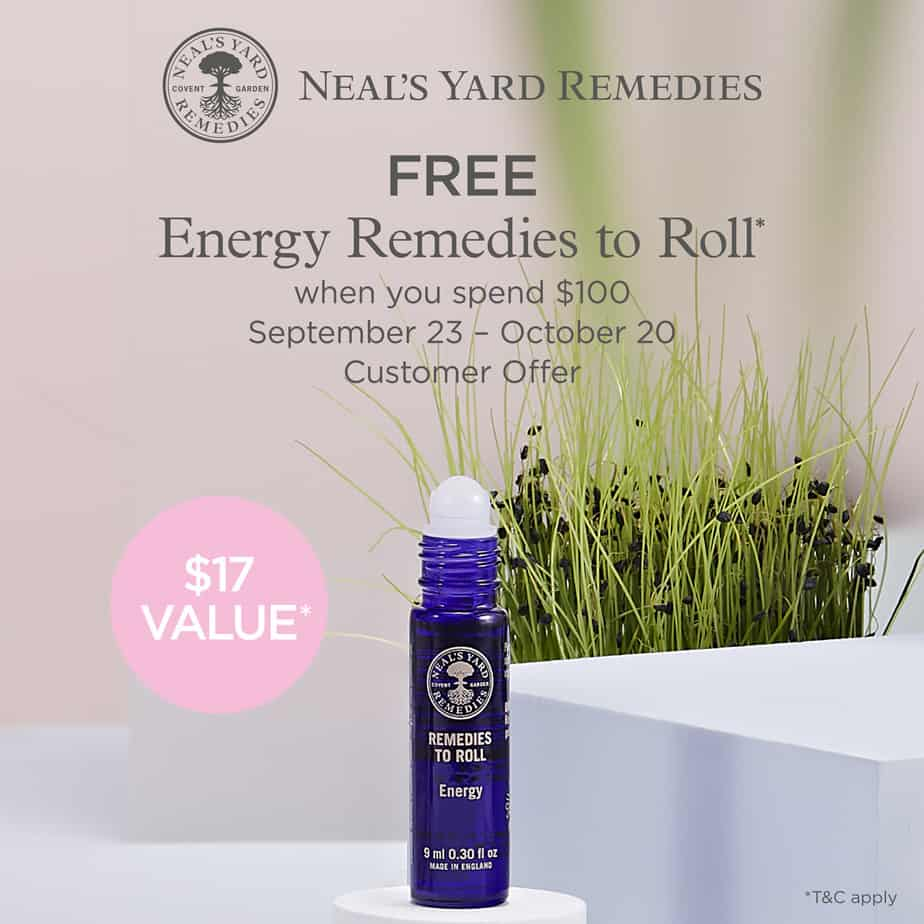 neals yard remedies gift with purchase offer essential oils