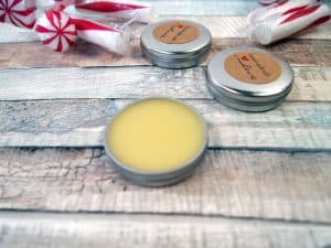 homemade mint chocolate lip balm