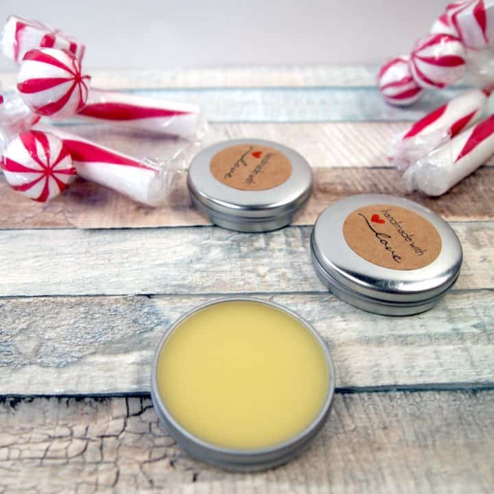 Homemade White Chocolate Peppermint Lip Balm