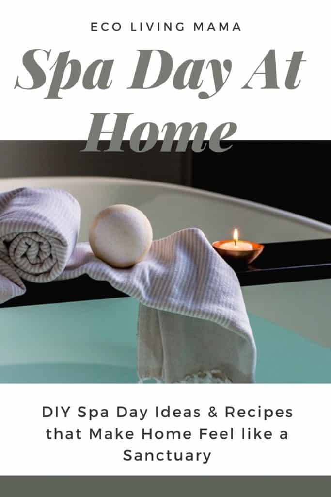 detox bath spa day at home