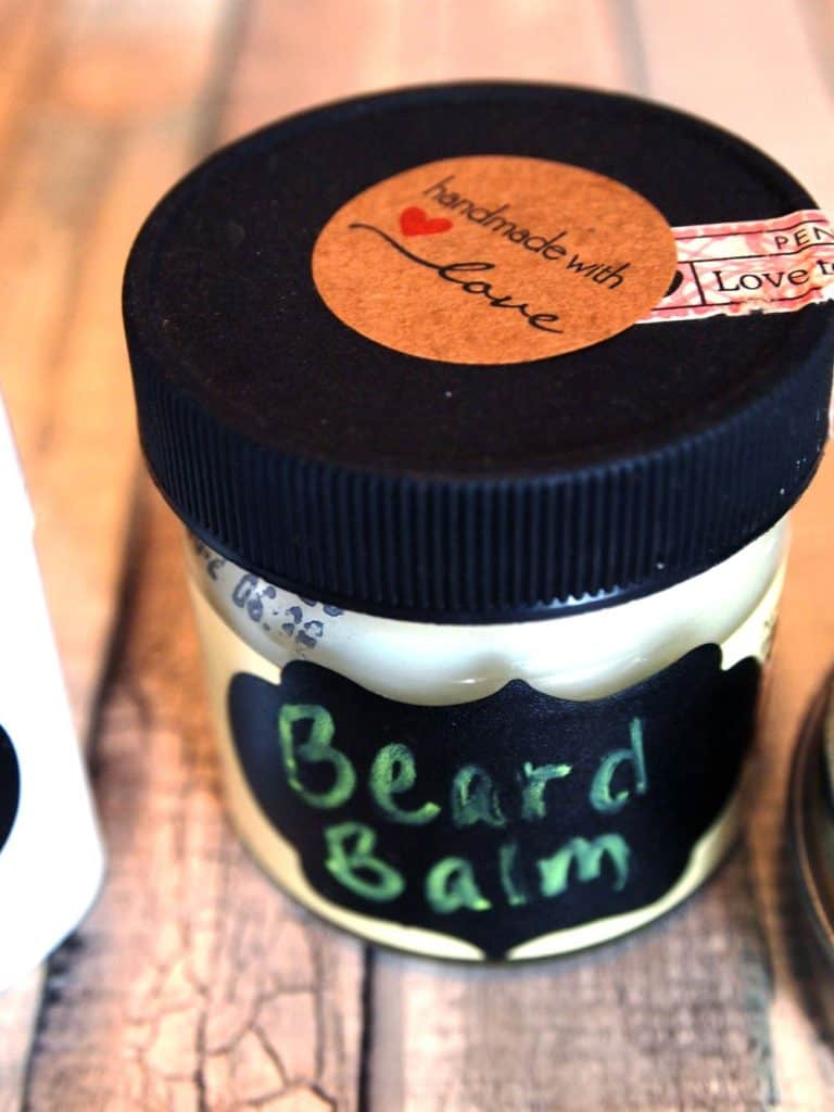 beard balm labels