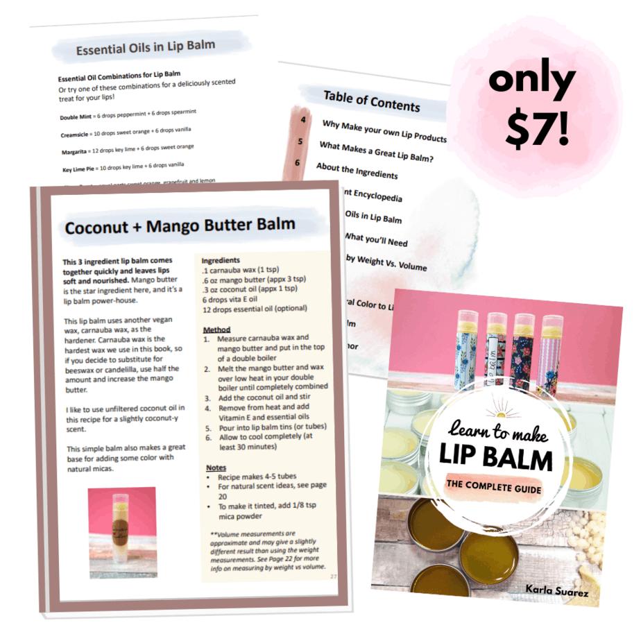 learn to make lip balm e-book